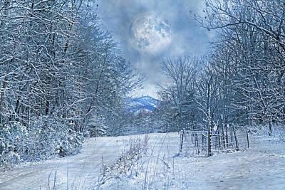 High Peak Mountain Snow Poster