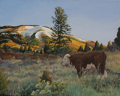 High Range Bull Poster by Timithy L Gordon