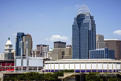 High Resolution Photo Of Cincinnati Skyline Poster by Paul Velgos