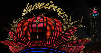 High Section View Of A Casino, Flamingo Poster by Panoramic Images