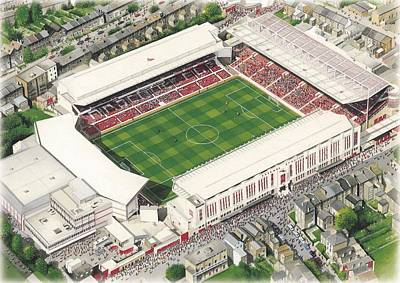 Highbury - Arsenal Poster by Kevin Fletcher