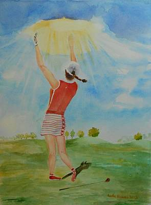 Highest Calling Is God Next Golf Poster by Geeta Biswas