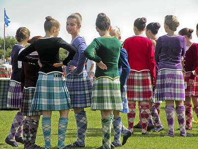 Highland Dancers Scotland Poster