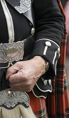 Poster featuring the photograph Highland Scottish Soldier by Sally Ross