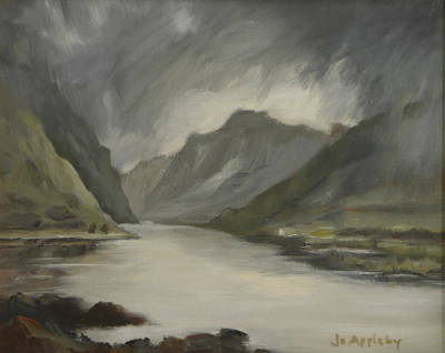 Poster featuring the painting Highland Storm by Jo Appleby