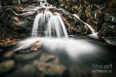Highland Waterfall Poster
