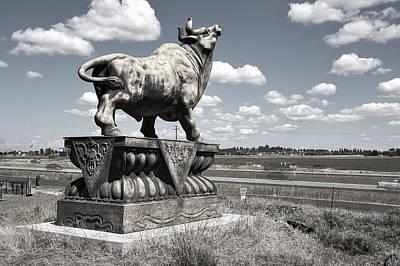 Highway Bull Poster by Daniel Hagerman