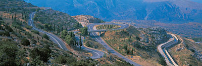Highway Delphi Greece Poster