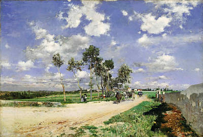 Highway Of Combes-la-ville Poster by Giovanni Boldini