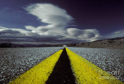 Highway Through Death Valley Poster by Ron Sanford