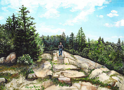 Hiking In Maine Poster