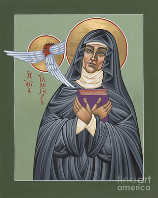 Poster featuring the painting St. Hildegard Of Bingen 171 by William Hart McNichols