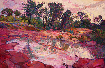 Poster featuring the painting Hill Country Dawn by Erin Hanson