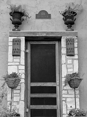 Hill Country Hacienda Bw Poster