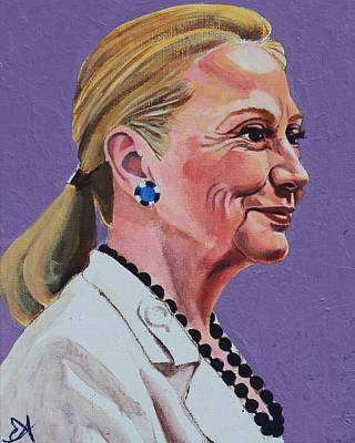 Hillary Rodham Clinton Portrait With Ponytail Poster