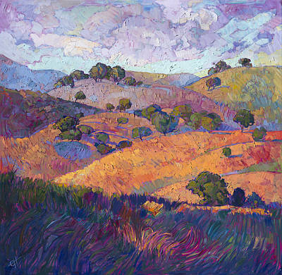 Hills Of Paso Poster by Erin Hanson