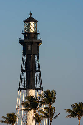 Hillsboro Inlet Lighthouse In The Evening Poster