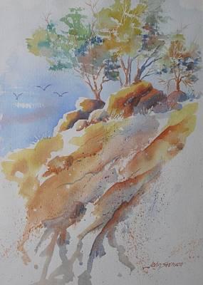 Hillside Rocks Poster