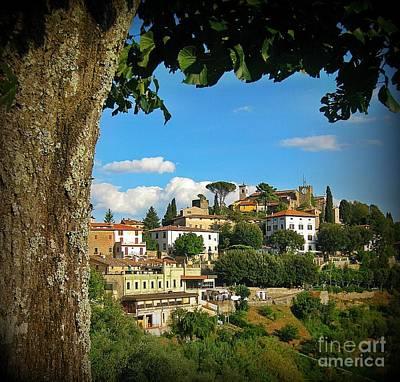 Hillside Tuscan Village  Poster by John Malone