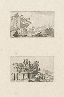 Hilly Landscape With Ruins And A Farm In The Hills Poster by Gillis Van Scheyndel (i)