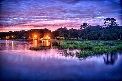 Hilton Head Evening Marsh Poster by Renee Sullivan