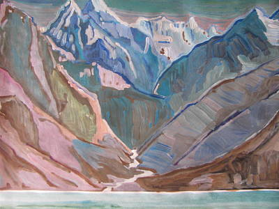 Poster featuring the painting Himalayas by Vikram Singh