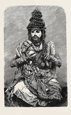 Hindoo Religious Mendicant. The Term Mendicant Refers Poster by English School
