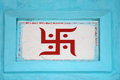 Hindu Symbol, Swastika, Varanasi, India Poster