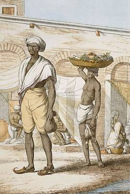 Hindu Valet Or Buyer Of Food, From The Poster by Franz Balthazar Solvyns