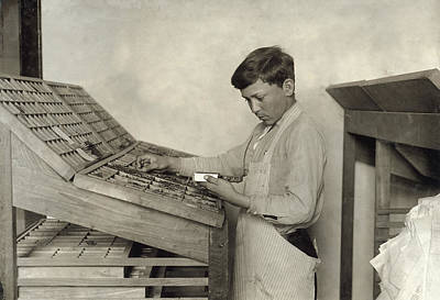 Hine Typesetting, 1917 Poster