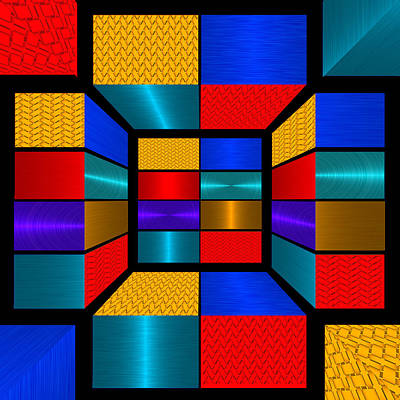 Hip To Be Square - For Metallic Paper Poster by Wendy J St Christopher