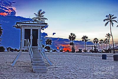 Hippie Beach Poster
