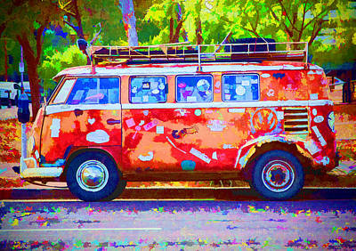 Poster featuring the photograph Hippie Van by Jaki Miller