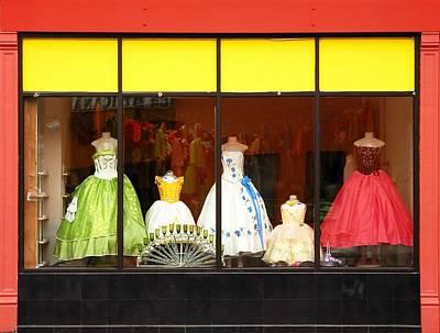 Hispanic Dress Shop Poster by Jim Hughes