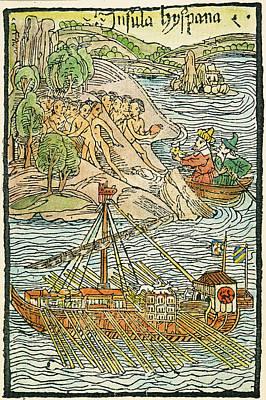 Hispaniola Trading, 1493 Poster by Granger
