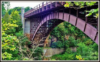 Historic Ausable Chasm Bridge Poster by Patti Whitten