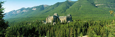 Historic Banff Springs Hotel In Banff Poster by Panoramic Images