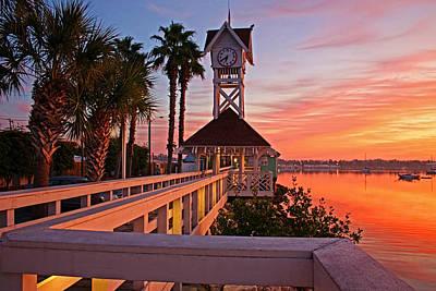 Historic Bridge Street Pier Sunrise Poster