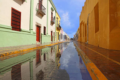 Poster featuring the photograph Historic Campeche Mexico  by Susan Rovira