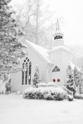 Poster featuring the photograph White Christmas In Oella Maryland Usa by Vizual Studio