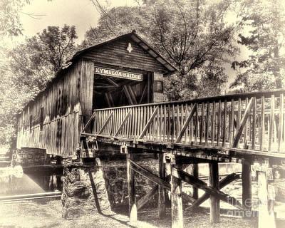 Historic Kymulga Covered Bridge Toned Poster