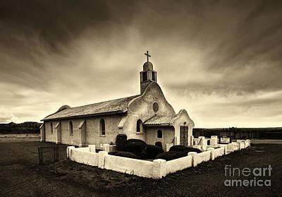 Historic Old Adobe Spanish Style Catholic Church San Ysidro New Mexico Poster