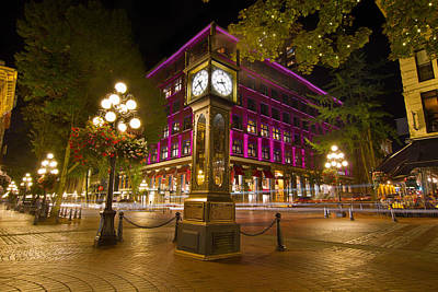 Historic Steam Clock In Gastown Vancouver Bc Poster by Jit Lim