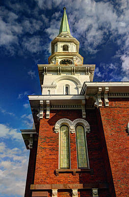Poster featuring the photograph Historic Steeple by Linda Edgecomb