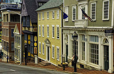 Historic Street In Providence Ri Poster by Nancy De Flon