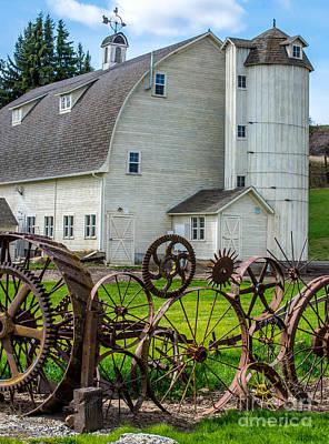 Historic Uniontown Washington Dairy Barn Poster by Gary Whitton