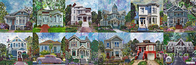 Historical Homes Poster by Linda Weinstock