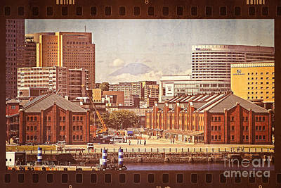 Historical Red Brick Warehouses Poster by Beverly Claire Kaiya