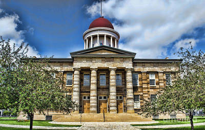 History -  Illinois Old Capitol Building3 -  Luther Fine Art Poster by Luther Fine Art