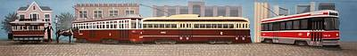 History Of The Toronto Streetcar Poster by Kenneth M  Kirsch